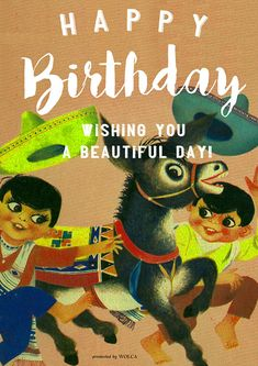 レトロで可愛いイラストでお誕生日お祝い画像を贈れる無料画像 Happy Birthday Wishes, Birthday Photos, Beautiful Day, Birthdays, Presents, Comic Books, Comics, Retro, Cute