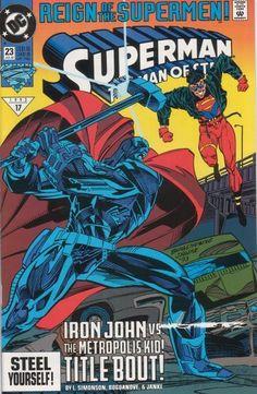 Superman: The Man of Steel (DC Comics, - Reign of the Supermen Superman Comic Books, Marvel Comic Books, Comic Book Characters, Comic Character, Comic Books Art, Marvel Girls, Marvel Vs, Deathstroke, Power Girl
