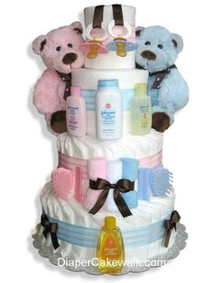 Baby Gifts | ... Diaper Cake 1 225x300 Unique Baby Shower Gift Idea: Diaper Cake