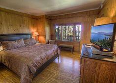 Master suite - Master retreat - beach front bedroom - Lake view bedroom #rnrvacationrentals #southlaketahoe VIA RnR Vacation Rentals rnrvr.com South Lake Tahoe