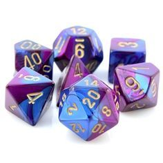 Iridescent Purple Gaming Dice