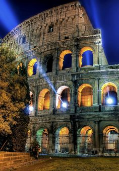Colosseo at night, Rome , Italy..