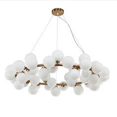 Modern Round pendant lamp fixture 25head White glass ball pendant lights gold/black magic bean living dining room shop lighting-in Pendant Lights from Lights & Lighting on Aliexpress.com   Alibaba Group
