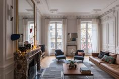 Apartment with stained glass window and unusual wallpapers in Paris | PUFIK. Beautiful Interiors. Online Magazine
