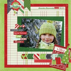 #papercraft #christmas #scrapbook #layout    New Simple Stories December Documented - Scrapbook.com