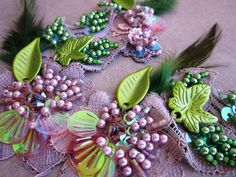 Mauve/olive applique by Magical Mystery Tuca, via Flickr