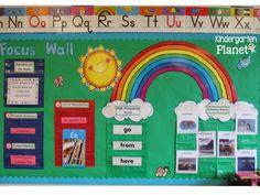 Kindergarten Planet: My Classroom Kindergarten Focus Walls, Kindergarten Calendar, Classroom Calendar, Preschool Curriculum, Kindergarten Teachers, Homeschool, Classroom Decor Themes, Classroom Setup, Future Classroom