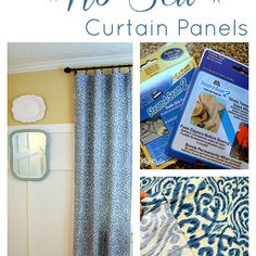 Easy, (and inexpensive!) No Sew Curtain Panels