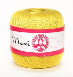 Mercerized High Quality Egyptian Cotton Yarn MAXI by Madame Tricote Paris - pack of 6 ( six ) skeins. Free Shipping