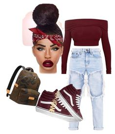 """""""I'd wear this"""" by slayurban on Polyvore featuring Vans, Givenchy and Louis Vuitton"""