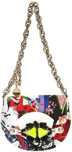 Versace Marlene Printed Shoulder Bag - Lyst