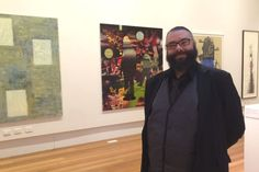 Damien Quilliam, curator of an exhibition showcasing 125 years of Tasmania's art history at Queen Victoria Art Gallery. PIC: Lauren Waldhuter.
