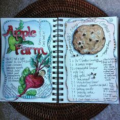 A few more pages! That is my favorite cookie recipe from #kingarthurflour. #watercolorjournal