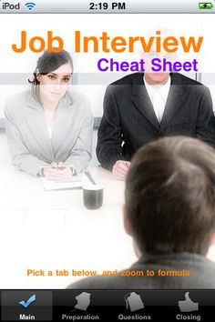 Interview cheat sheet - if it's been awhile since you interviewed, this list gives you refresher on how to prepare, interview + follow-up afterwards.