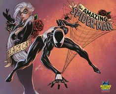 Amazing Spider-Man Vol 4 Midtown Exclusive J Scott Campbell Composite Part 1 Gatefold Cover. After ten years, Dan Slott's final issue of THE AMAZING SPIDER-MAN is here, and he isn't pulling any punches. Spiderman Black Cat, Black Cat Marvel, Spiderman Art, Amazing Spiderman, Univers Marvel, Midtown Comics, J Scott Campbell, Spectacular Spider Man, Marvel Dc Comics