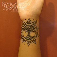Organic Henna Products. Professional Henna Studio. KonaHenna.com #sun #tree