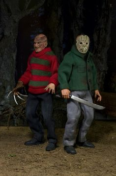 New Retro Freddy and Jason Figures from NECA