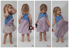 Balloon fold dress