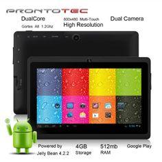 nice ProntoTec 7″ Android 4.2 Tablet PC, Cortex A8 1.2 Ghz Dual Core Processor,512MB / 4GB,Dual Camera,HDMI,G-Sensor (Black)