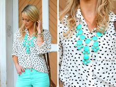 Mint with pattern