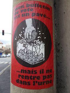 mon bulletin de vote est un pavé...Montreuil-Sous-Bois