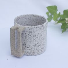 geometrically inspired ceramic mug