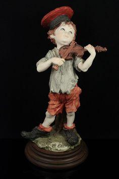 Giuseppe Armani Figurine Boy With Violin MINT WorldWide