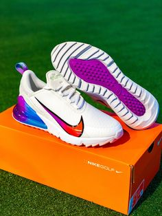 Must Have Summer Colourway!🌈 #NikeGolf Limited Edition Air Max 270 Golf NRG 'Oracle Aqua'🔥 • Exclusive to #eGolfAlWasl S.C. store⛳️ Shop online at egolfmegastore.ae #NikeGolf #AirMax #AirMaxNRG #NRGshoes #AirMax270 #OracleAqua #nikeairmax