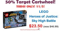 50% TARGET CARTWHEEL FOR 11/5! Get the LEGO Heroes of Justice: Sky High Battle for only $23.50 (reg $46.99!) Grab one before they are gone!  Click the link below to get all of the details ► http://www.thecouponingcouple.com/lego-heroes-of-justice-sky-high-battle/ #Coupons #Couponing #CouponCommunity  Visit us at http://www.thecouponingcouple.com for more great posts!