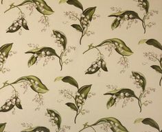 Lily of the valley fabric