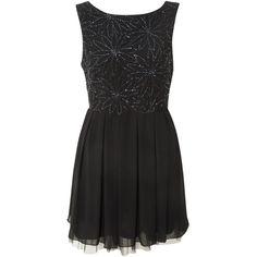 Miso Embellished Fit To Flare Dress ($81) via Polyvore