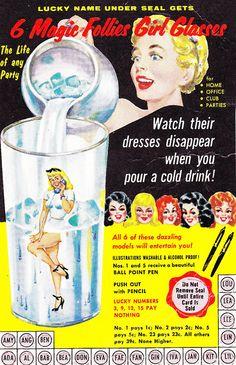 Magic Follies Girl Glasses c. 1950's