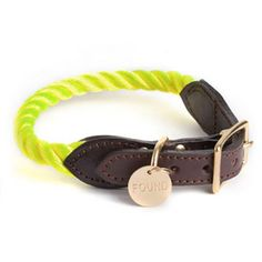 Brooklyn-Made Rope Collar for Dog and Cat in Neon Yellow