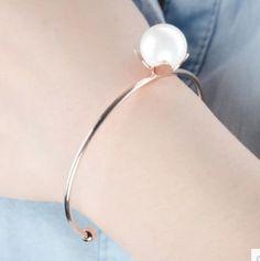 New Charm Fashion Gold Pearl Chain Bracelet Cuff Bangle Women Jewelry gift #Unbranded #Fashion