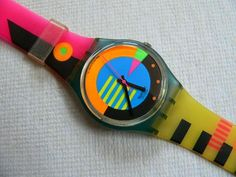 From the 80's:  Swatch watch.  The colors and patterns were endless, and we loved them.
