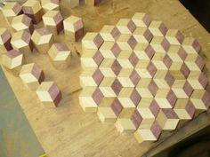 Tumbling Block butcher block