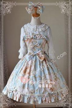 Magic Tea Party Elegant Prints Lolita JSK $56.99-Cotton Girls Skirts - Lolita Skirts - My Lolita Dress