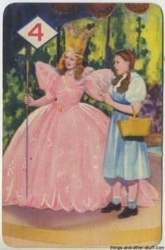 "Artwork from the 1940 Castell Brothers card game for ""The Wizard of Oz."""