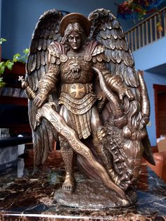 Amazon.com - St. Michael and The Dragon Archangel Statue Saint - Angels St Michael