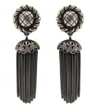 Ohhh to sashay 'round the city with these 1950s Schiaparelli tassel clip-on earrings