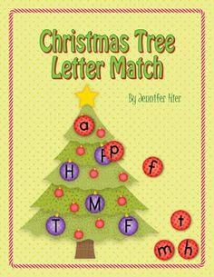 Christmas Tree Letter Match....great preschool activity