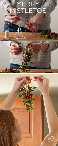 bucket list diy Steal a kiss or two and share joy in a surprising way this season and make your own spin on modern mistletoe with a few household items. See how to make this and more DIY holiday crafts to start sharing joy now! Winter Christmas, All Things Christmas, Christmas Holidays, Christmas Ornaments, Christmas Wreaths To Make, Christmas Candle, Decoration Evenementielle, Xmas Decorations, Holiday Crafts