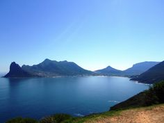 Hout Bay from Chapman's Peak South Africa, My Photos, African, River, Spaces, Explore, Mountains, Pretty, Nature
