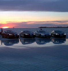 Sunset in Zadar. TESLA Roadster and Model S made an appearance at an EV rally in Croatia.2014