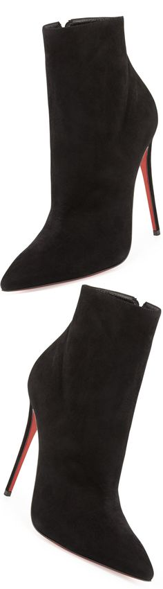 Christian Louboutin So Kate Suede Red Sole Bootie | LOLO