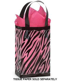 ddda835f3c2 Amazon.com  Black   Clear ZEBRA Plastic Shopper Gift Bag 3 mil HD  5-1 4x3-1 4x8-1 2