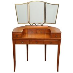 Dressing Table with Mirror by Gio Ponti Furniture Dressing Table, Dressing Table Mirror, Dressing Tables, Dressing Room, Piero Fornasetti, Gio Ponti, Design History, Artist Gallery, Interior Inspiration