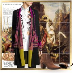 A fashion look from September 2017 by canisartstudio featuring Etro, Michael Kors, Moreau, duster i DusterCoats