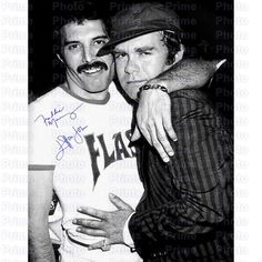 Freddie Mercury, Elton John Signed Signature from UK Rock Band Queen, Backstage at Live Aid B/W or Sepia Prime Remastered Print 1644 Queen Freddie Mercury, Brian May, John Deacon, Queen Logo, Punk, Beatles, Arte Pink Floyd, Rock And Roll, Funny Videos