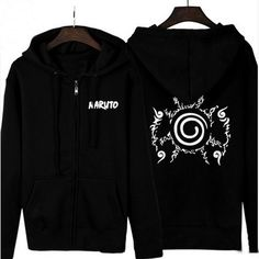 Camplayco Naruto Seal Cosplay Balck Hoodies Warm Coat Size L New Style >>> See this great product.